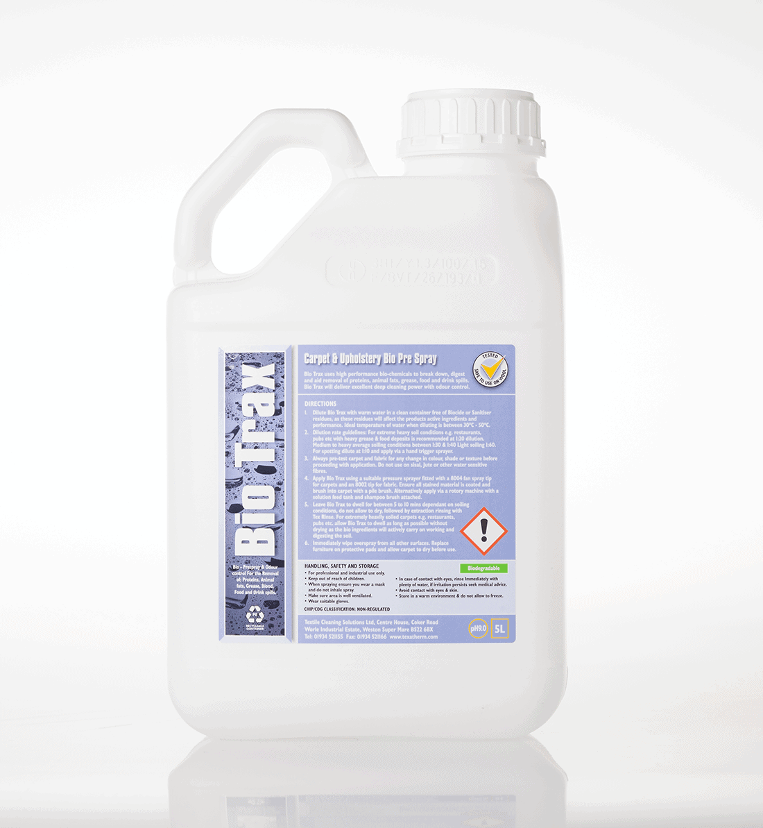 Professional carpet cleaning chemical for organic staining