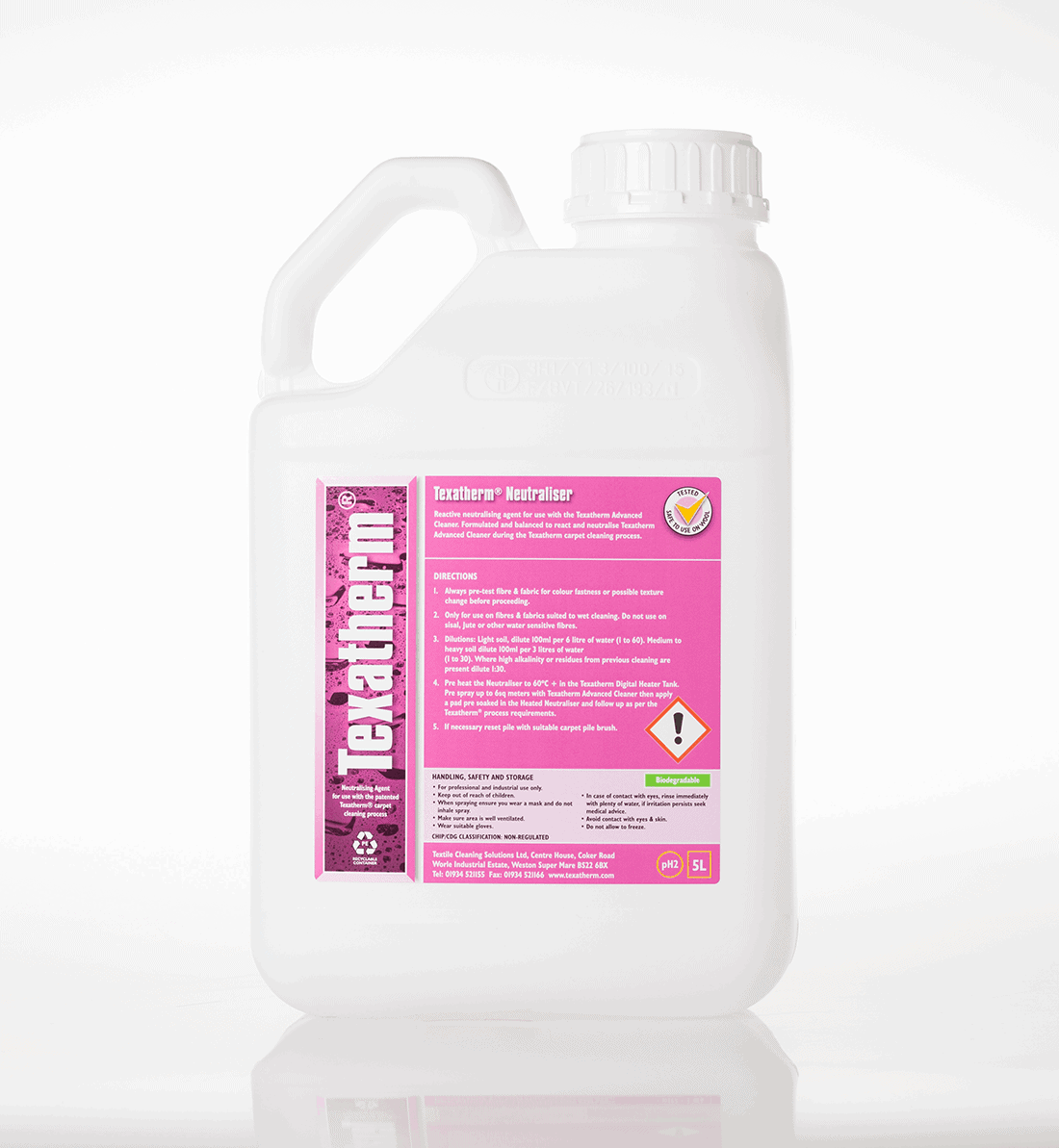 Professional carpet cleaning chemical neutraliser