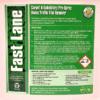 Fast Lane label instructions